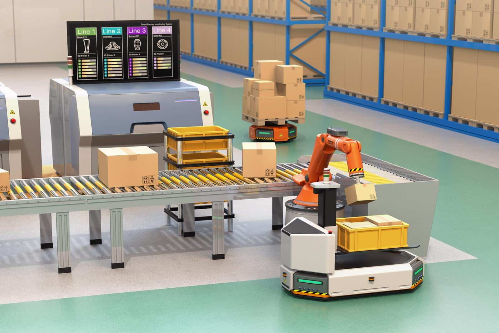 autonomous mobile robot in a smart factory