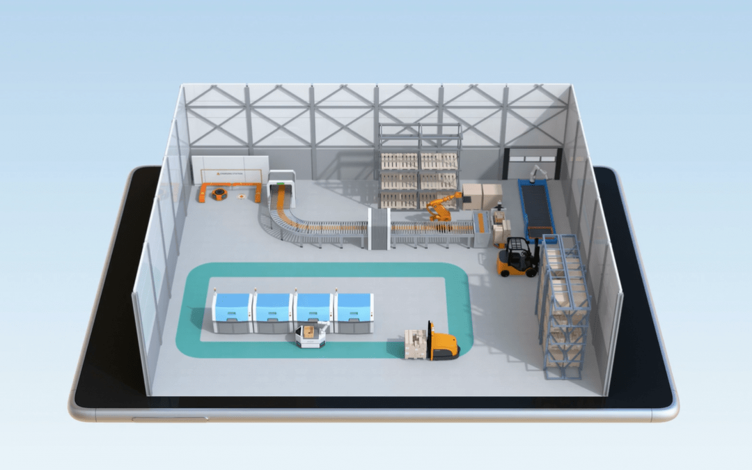 Simplify AGV Scenario Evaluation: A Material Handling Digital Twin in 3 Easy Steps